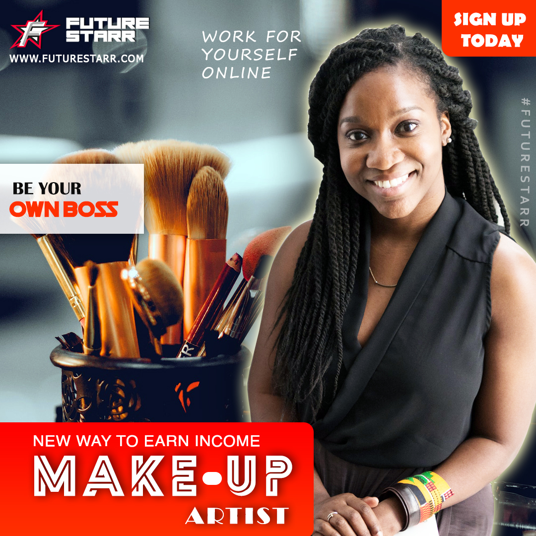 #Makeup #Artists: Setup a new #Online #Business selling #Makeup #tutorials with #FutureStarr! #Beauty & #Technology now lies in your hands. #Create your #Bio #Upload your #Talent - #SetyourPrice- #MakeSales!