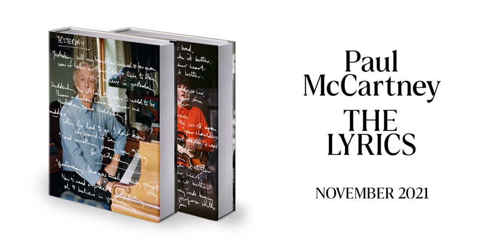 'THE LYRICS: 1956 to the Present' by Paul McCartney is out November 2nd. Pre-order your copy here:   #PaulMcCartneyTheLyrics