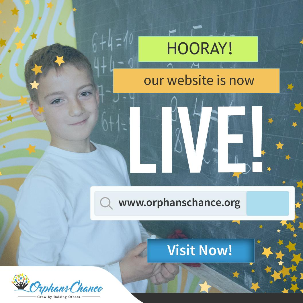 We're so excited to announce the launch of our new website!⭐️  Now you're empowered to reach beyond the borders and make a difference. Be the first! Be the hero today! ✋  Visit Now: 👉 https://t.co/eVUyUAOIdW  #GrowByRaisingOthers #GiveOrphansAChance https://t.co/d2H0TpgcZx