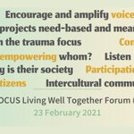 Image for the Tweet beginning: The 1st FOCUS Forum was