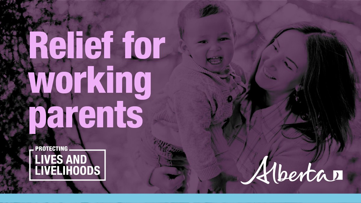 We're helping to reduce the financial stress on parents during #COVID19AB. The Working Parents Benefit provides a one-time payment of $561 per child to parents who used licensed or unlicensed child care between April & Dec 2020. Check eligibility: alberta.ca/WorkingParents…
