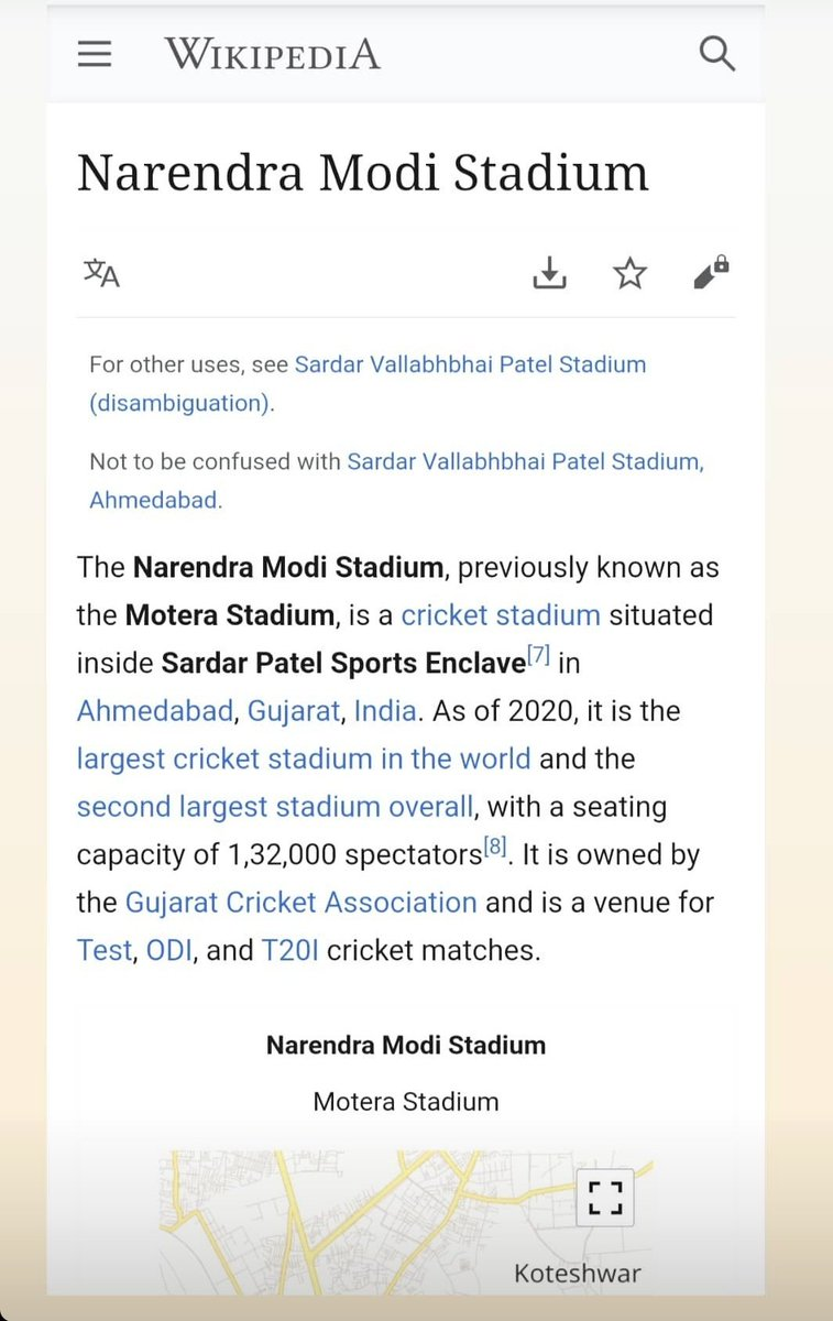 #NarendraModiStadium  #SardarPatelSportsEnclave  Please check Your Knowledge #Congress vale