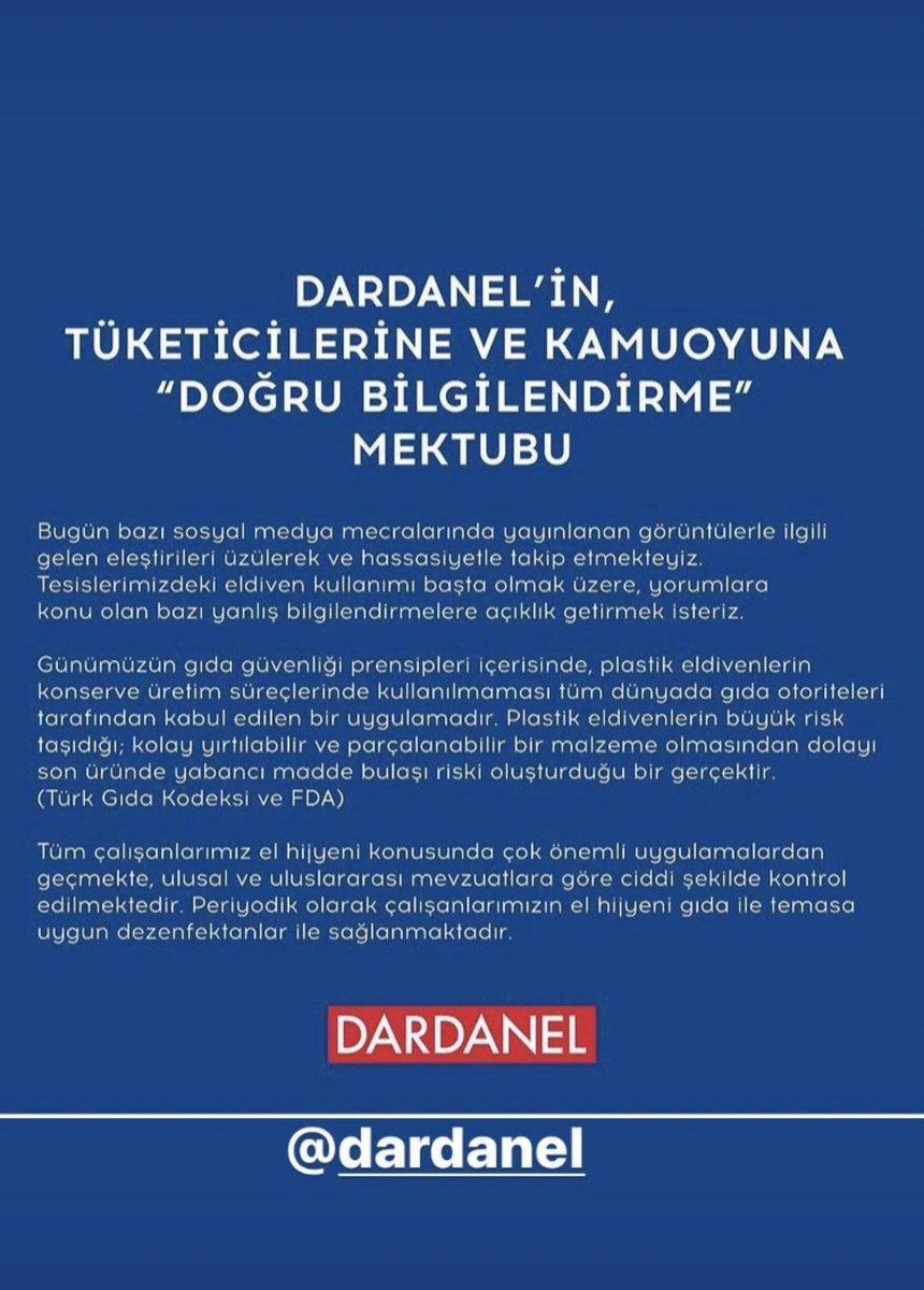 Çanakkale nin ve Türkiye nin en önemli gıda üreticisi olan DARDANEL sonuna kadar seninleyiz https://t.co/xBXbMtLWVs