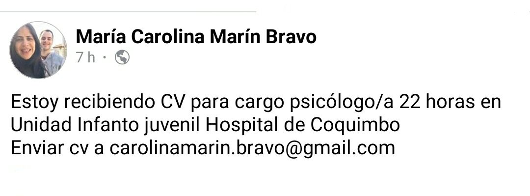 El Hospital de #Coquimbo está buscando psicólogo/a. #dato #trabajo #oferta #RT