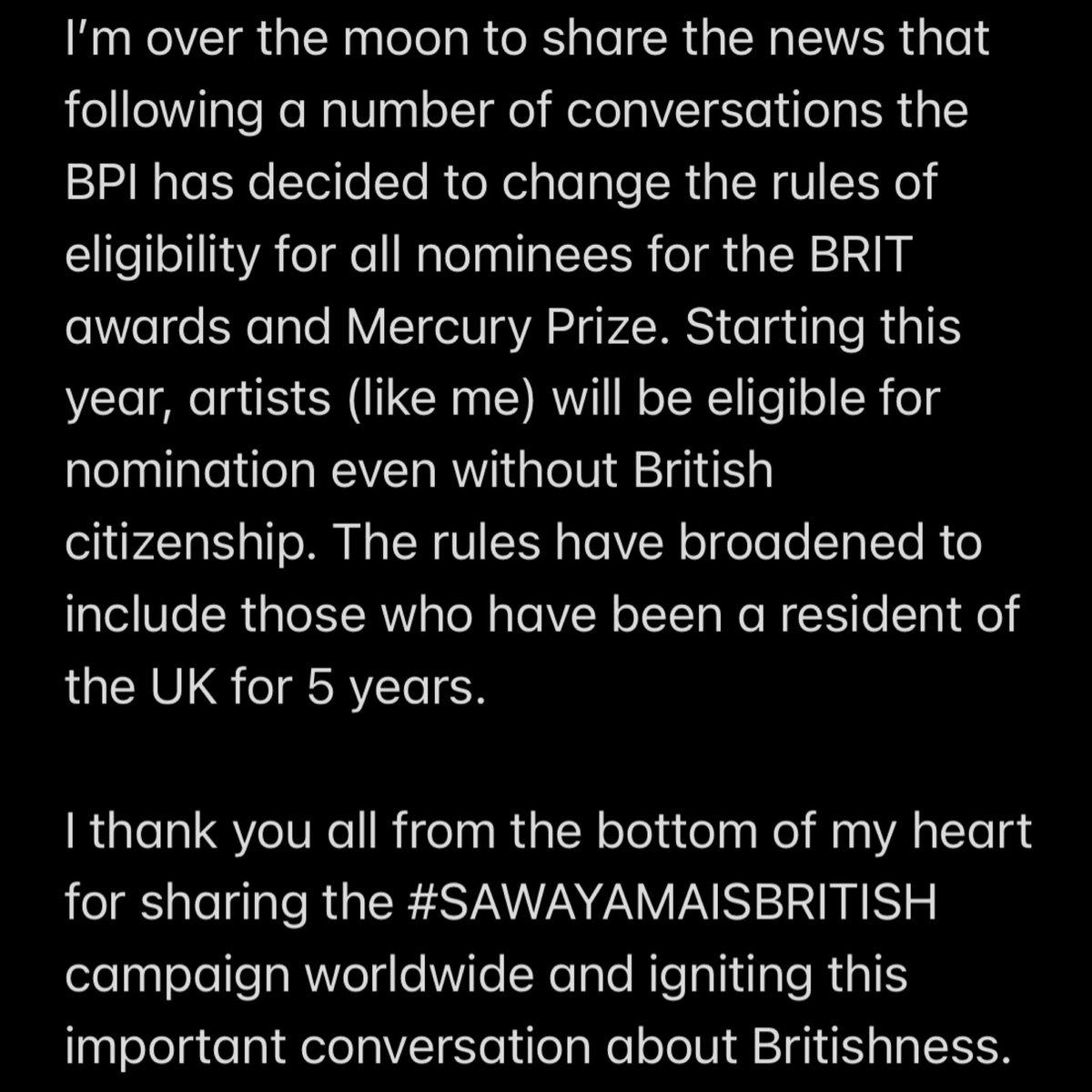 Replying to @rinasawayama: REDEFINING BRITISHNESS !!!! shoutout @bpi_music !!!! #SAWAYAMAISBRITISH !!
