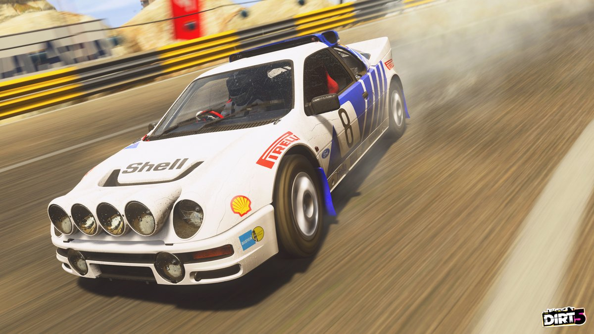 For the new iconic liveries added to #DIRT5, scroll right when selecting a livery to find the legendary designs...  ...like this one for the Ford RS200 🏆