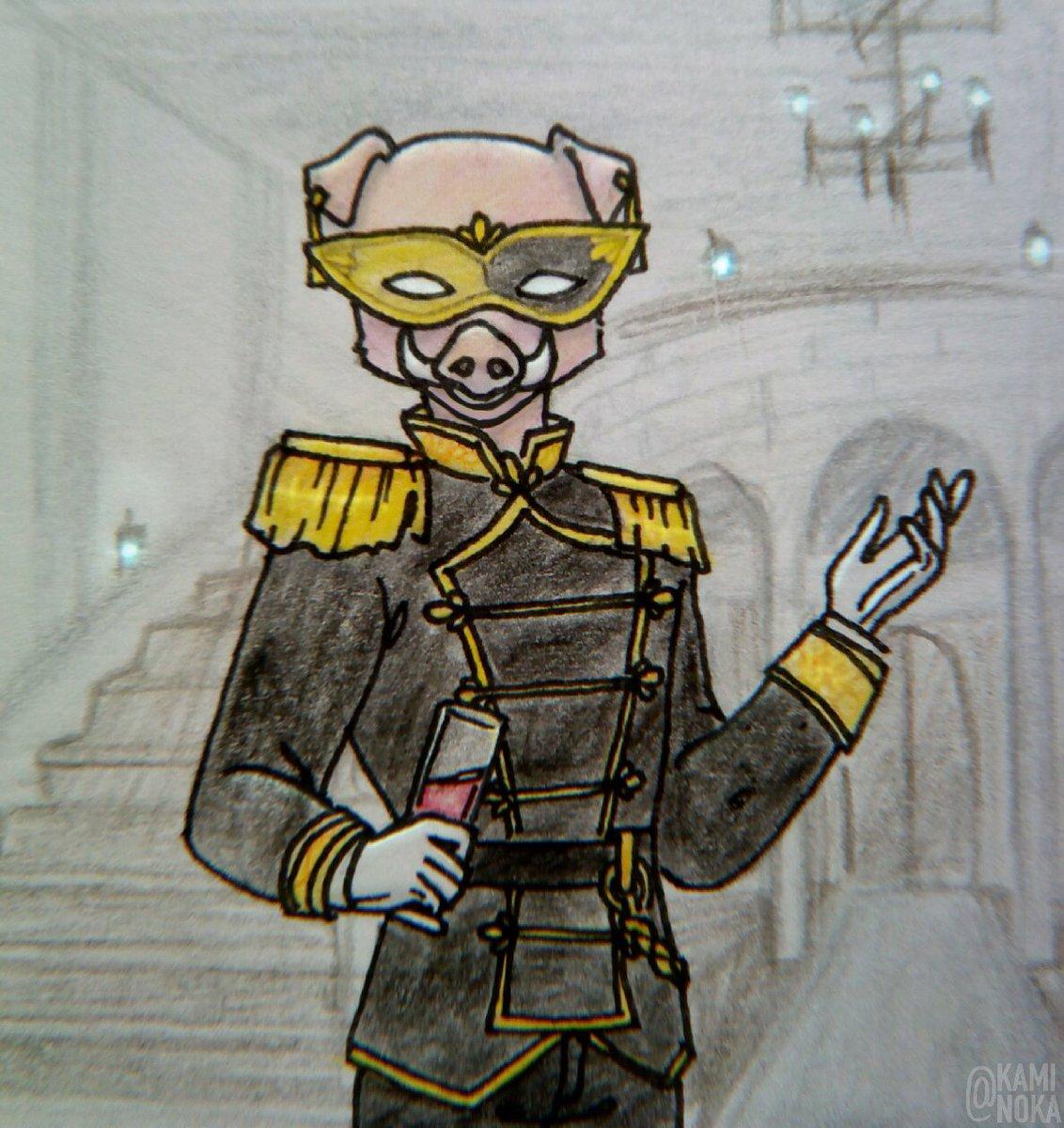 """Стрим с маскарадом был давно, а я только сейчас решила нарисовать Сэра Биллиама III """":)  #TALESFROMTHESMP #dsmp  #SIRBILLIAM #technoblade"""