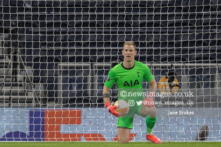 Joe Hart #12 of Tottenham Hotspur saves the ball @SpursOfficial #THFC #COYS @WolfsbergerAC #UEL @EuropaLeague @djstottyimages