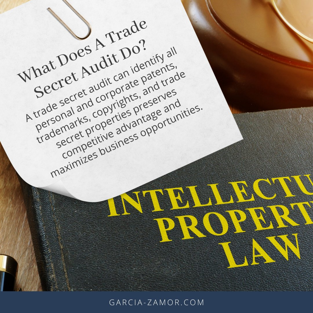 Developing a complete #tradesecret protection program can help you make sure your business is positioned to evade risks and seize opportunities in the future. Garcia-Zamor can help you evaluate and plan for all #trade secret issues that can affect your business, contact us today!