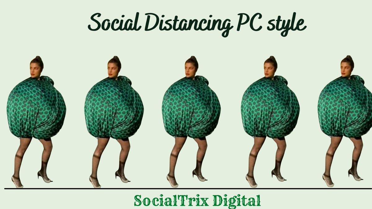When your dress saves your life.  #PriyankaChopra #priyankachoprajonas #COVIDIOTS #COVID19 #Trending #PeeCee #Meme #MemeMarketing #MomentMarketing #Viral