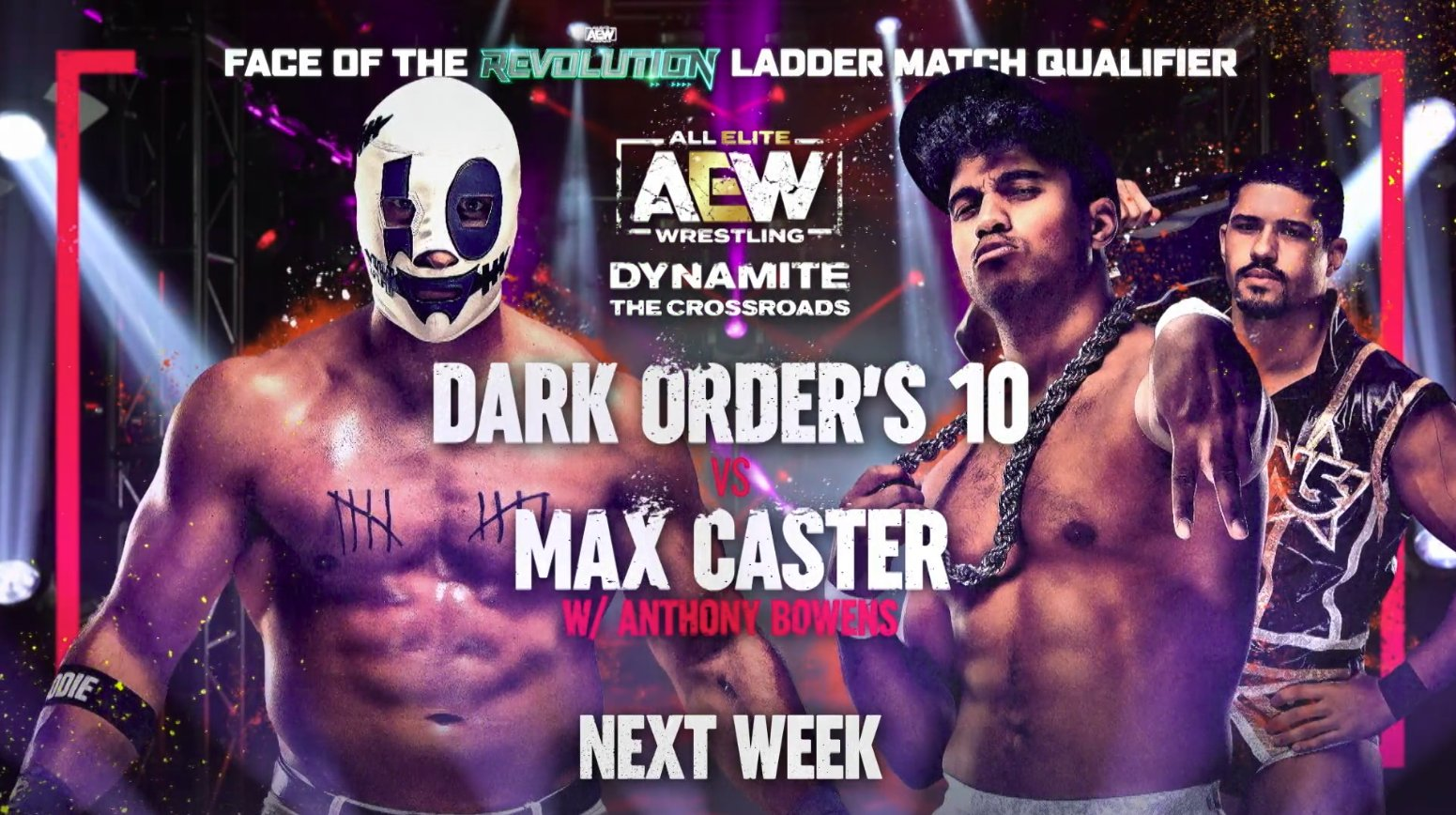 """All Elite Wrestling on Twitter: """"The Face of the Revolution Ladder Match Qualifier continues this Wednesday as Dark Order's 10 takes on one-half of The Acclaimed Max Caster! Who takes the next"""