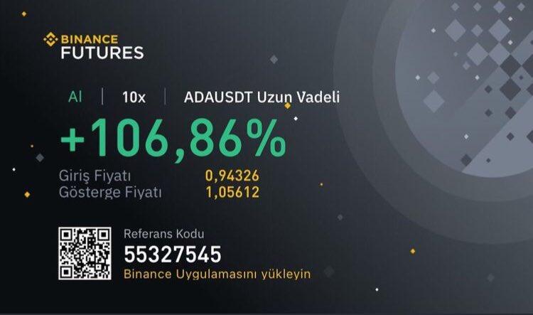 Piyasanın yükselişini değerlendirenlere selam olsun🙋♀️ #bitcoin #bitcointurkiye #binance #Cardano #trx #ada #bnb #dot #kripto #kriptopara #trade