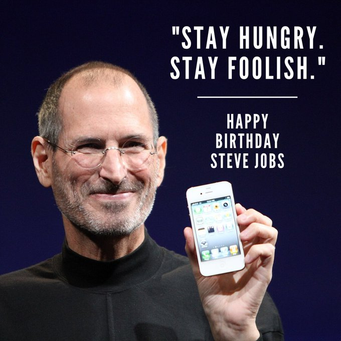 Happy Birthday Steve Jobs!  The co-founder of Apple would have celebrated his 66th birthday today.