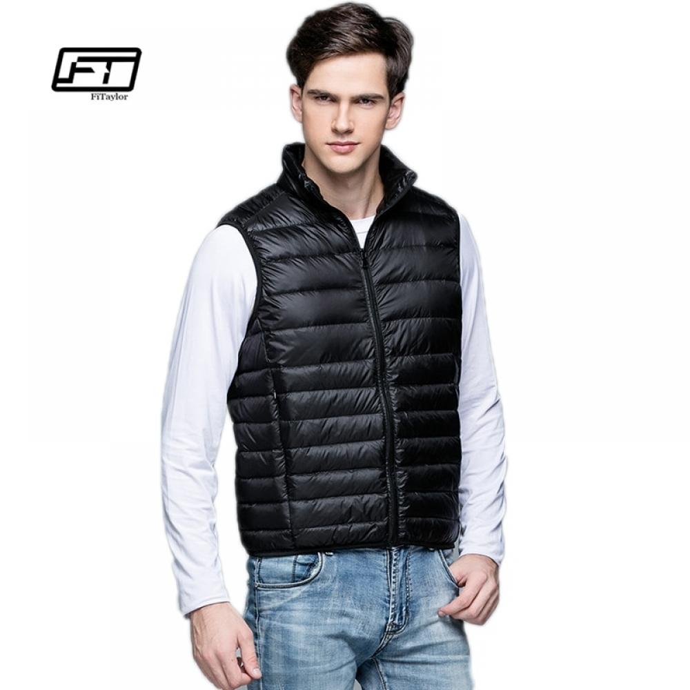 #igers #tagsforlikes Men Down Vest Ultra Light White Duck Down Outwear Sleeveless Warm Slim WaistCoat
