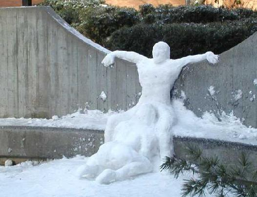 LOL!!! The City of Winnipeg, Manitoba, Canada,  is pleading with residents to stop making erotic snow sculptures like this ☠️🇨🇦