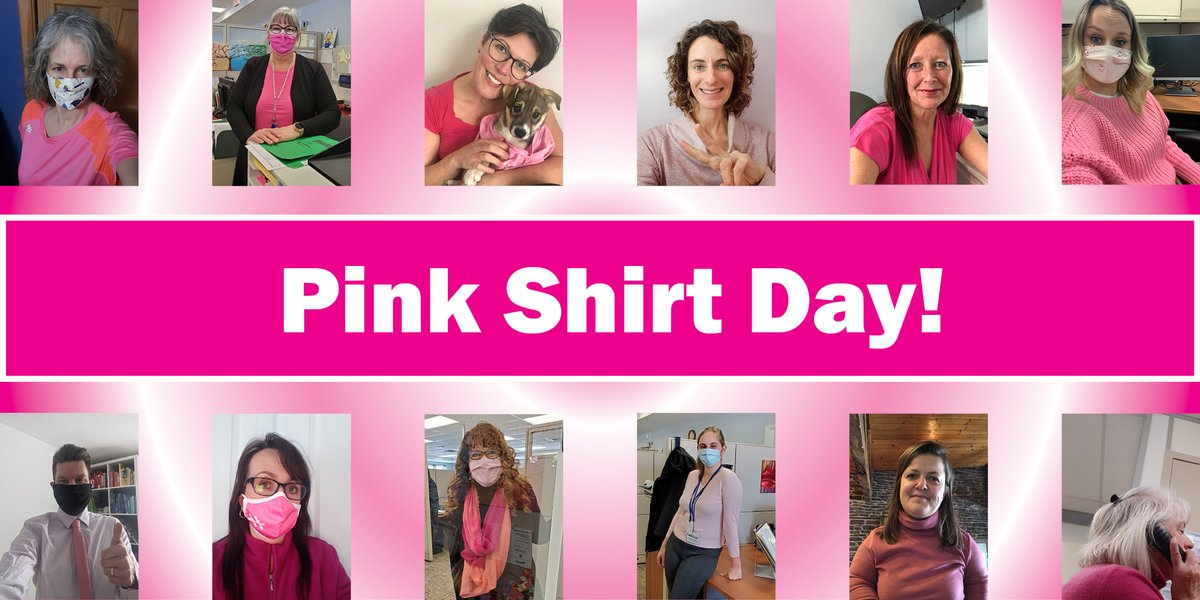 It's #PinkShirtDay Stand up to bullying and #LiftEachOtherUp! Check out some of our staff sporting their #Pink for kindness, respect and inclusion.🙂