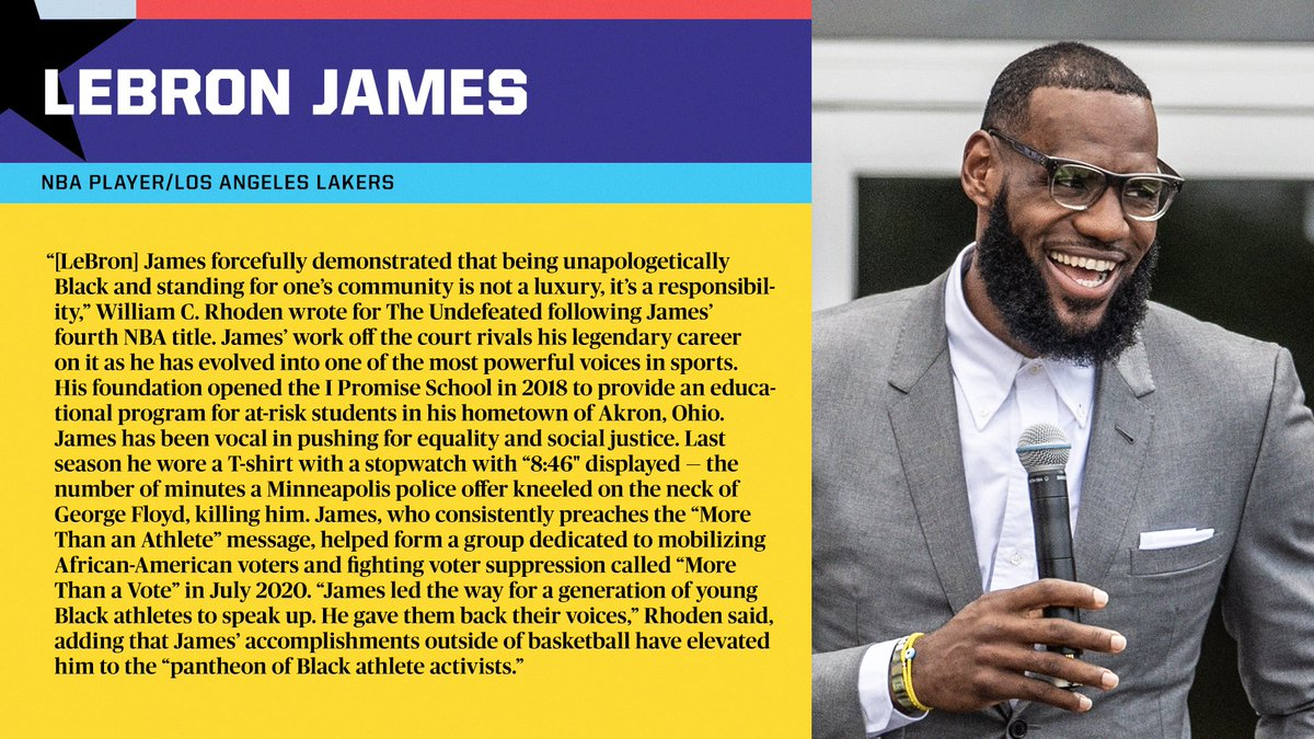 LeBron James has become one of the most powerful voices in all of sports, inspiring the next generation of Black athletes to speak up and not solely stick to sports. @KingJames   #BHM x #BlackHistoryAlways