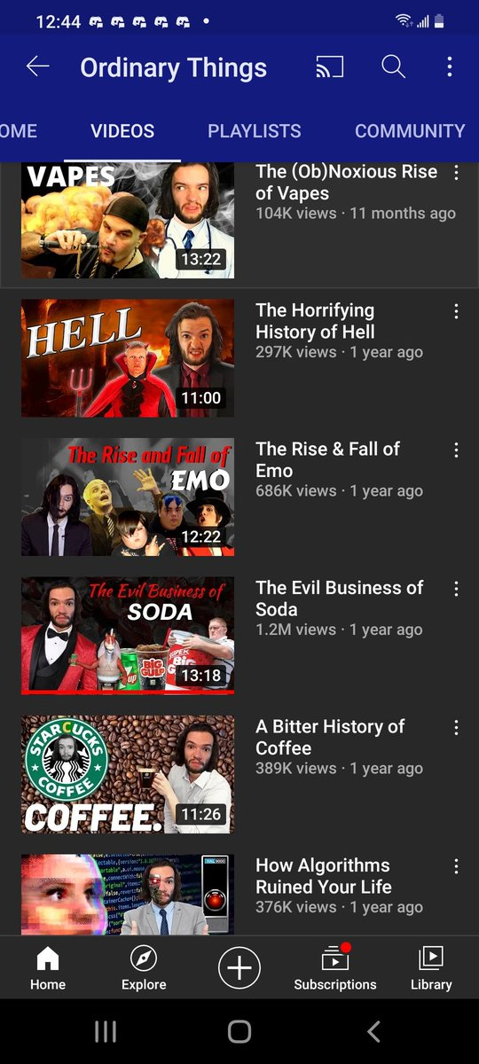 This channel is pretty good.