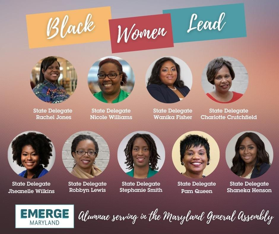 So proud to be an Emerge Maryland graduate and to know many of these great alumnae! @EmergeMaryland @RachelJforMD @RobbynLewis46th Also proud to be represented by @ElectWells https://t.co/A6Fw7yWwCt