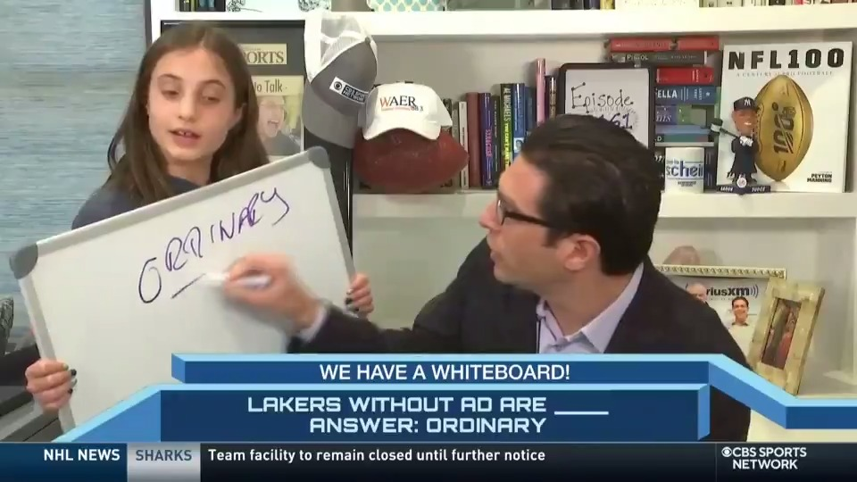 WE'VE GOT A WHITEBOARD AND WE'RE GOING TO USE IT!! @AdamScheinsays the Lakers are ______ without AD.