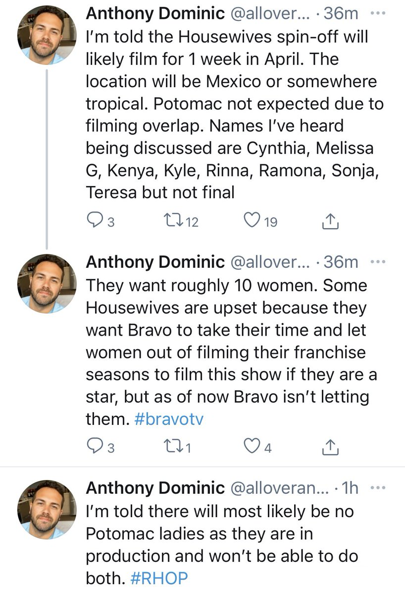 According to @alloveranthony, he's got some additional juicy scoop on #RealHousewives All Stars!