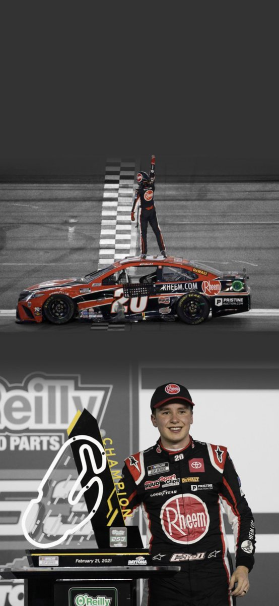 It's #WinningWednesday today for @CBellRacing and @TyGibbs_ ! I didn't make one for Ben Rhodes, nothing against him, I just haven't had the time.   #nascar #daytona #christopherbell #tygibbs #joegibbsracing