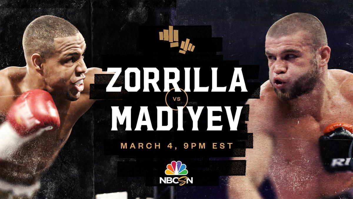 El invicto boricua Danielito Zorrilla será el encargado del evento co-estelar este 4 de marzo, cuando se enfrente al kazajo Ruslan Madiev en Guaynabo, #PuertoRico.  📺 ¡EN VIVO! Desde las 9PM EST en @nbcsports - #ZorrillaVsMadiyev #RingCityUSA #AnyoneAnytimeAnywhere
