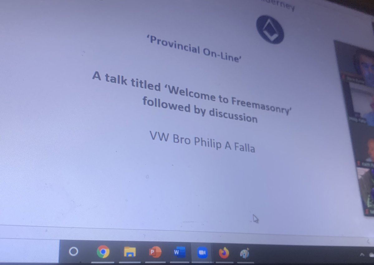 Fantastic 1st ever #ProvinceofGuernseyandAlderney meeting online with many great friends which due to #lockdown not seen in over a mth. It kept me busy & hope all enjoyed, well done those involved, supported & really enjoyed a great talk by VW Phil #freemasons #Guernseyfreemasons