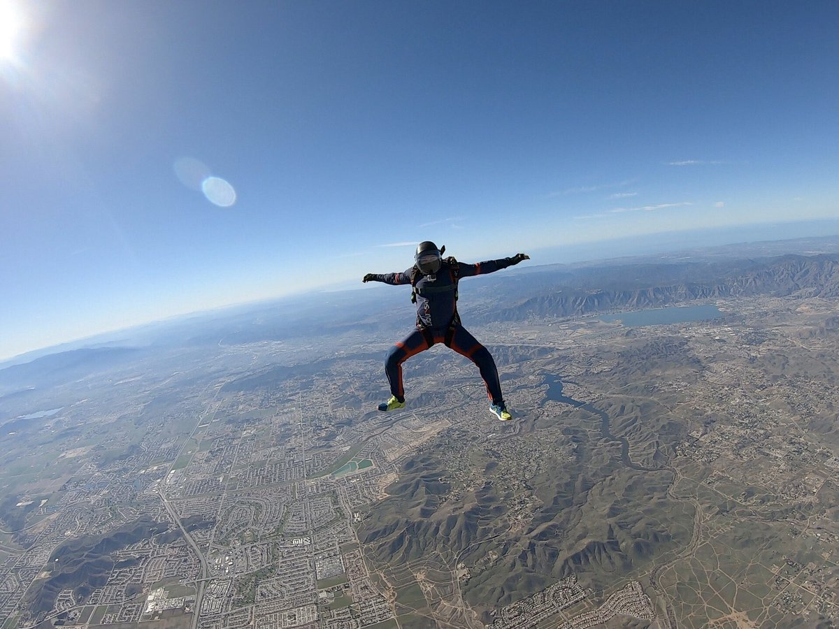 I'm not skydiving, I'm falling with style 🪂 #MyPandemicFitnessRegimen