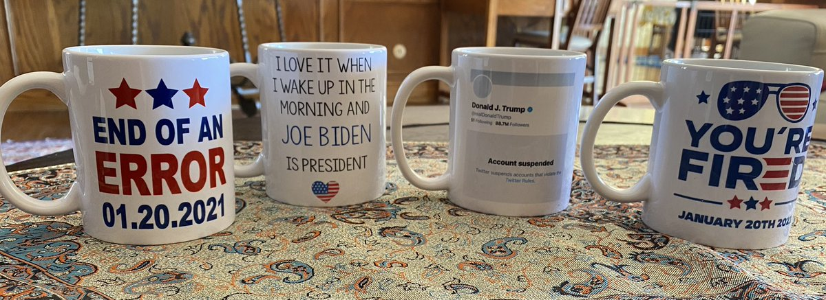 My Birthday was January 20th, but thanks to Dejoy, It took forever to receive my gift from my son! It's perfect! #ByeDon #Biden