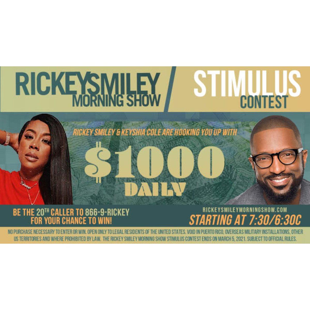 Tune into @rickeysmileymorningshow tomorrow morning @1067wtlc @rickeysmileyofficial & @keyshiacole is giving away $1000 #wtlcisindy #tlcisindy