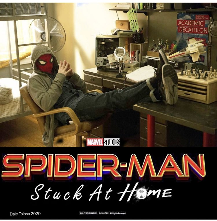 When the lockdown due to the pandemic hit last Spring, @JedHead77 and I thought this would be the most apropos title for #spiderman3 #zoomschool 😎🕸🕷