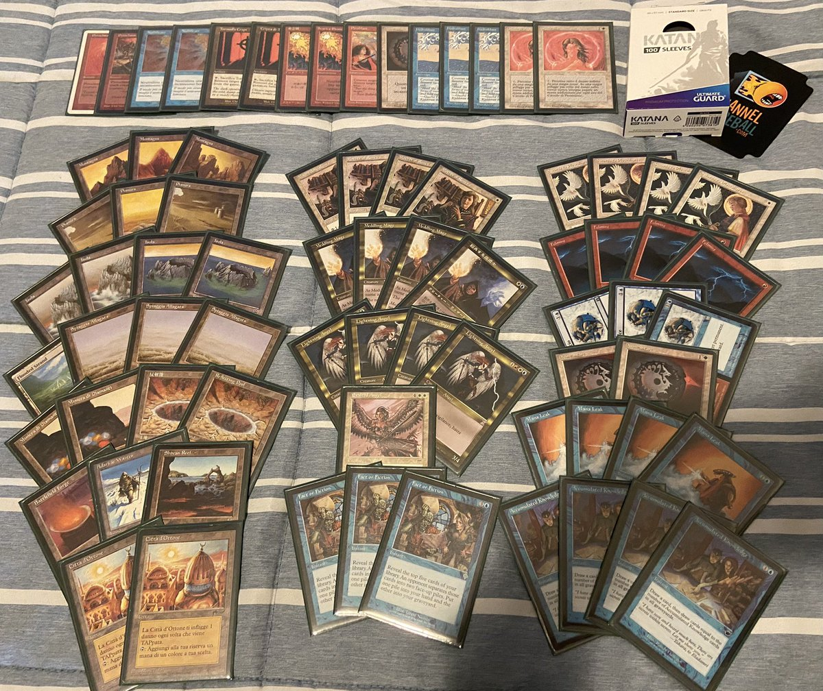 Tonight I'll be sleeving a new Premodern deck: The Solution!  #premodernmtg