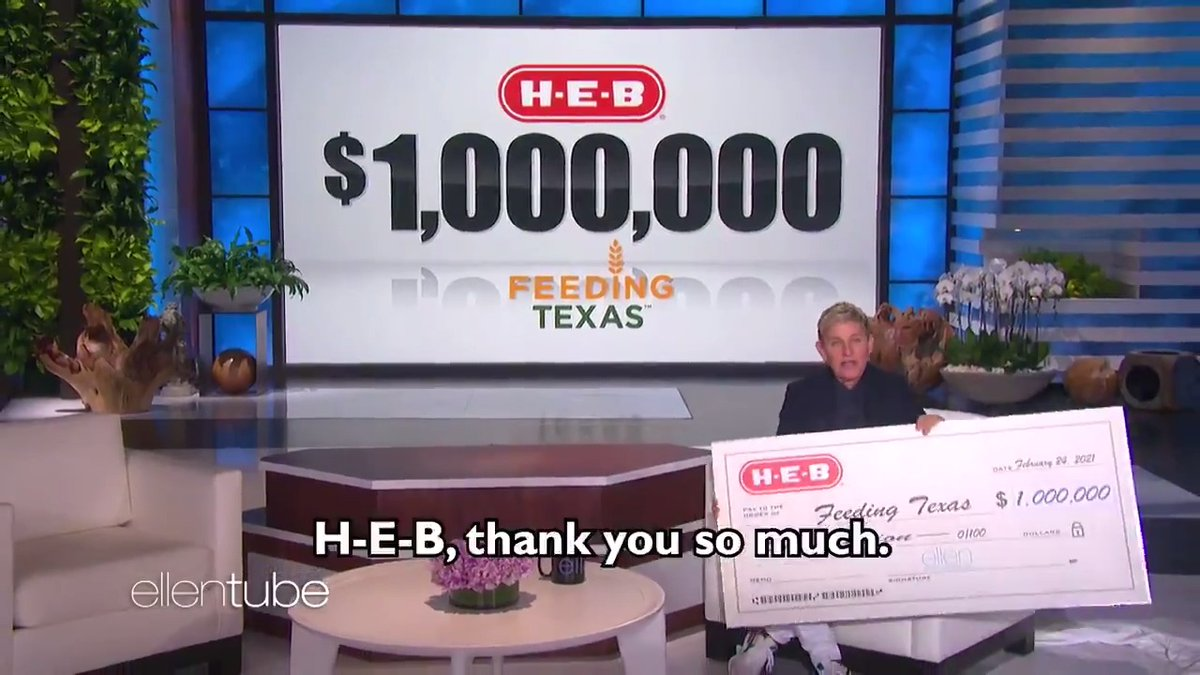 Everything is bigger in Texas, even the checks. Thank you so much for this incredible donation, @HEB. #ThanksSponsor