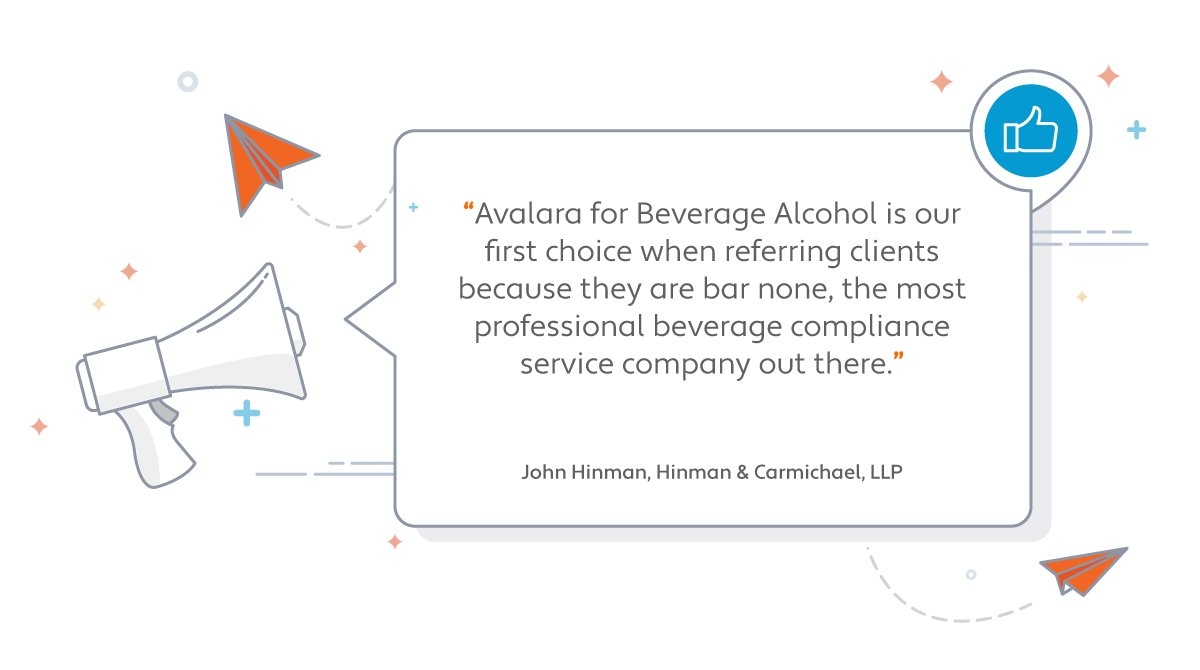 When it comes to compliance, the beverage alcohol industry has regulations beyond sales and #tax. That's why Hinman & Carmichael LLP recommend Avalara for Beverage Alcohol for clients. https://t.co/ScTFhY0rmQ https://t.co/MbY16HR651