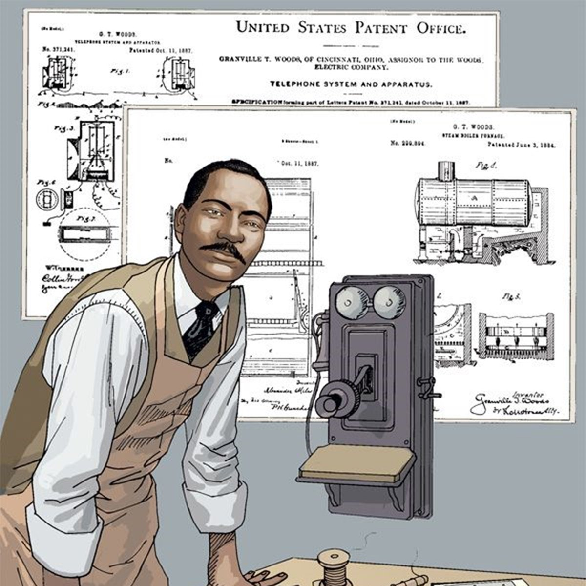 Granville Woods developed the ability to transmit voice over telegraph, important to the later development of the telephone. He also invented the overhead wire system for electric streetcars. Learn More:   #BlackHistoryMonth #wednesdaythought