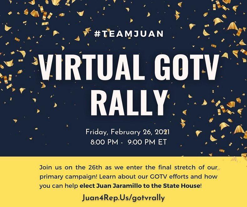 This Friday! Let's GOTV! Juan4rep.us/gotvrally #mapoli