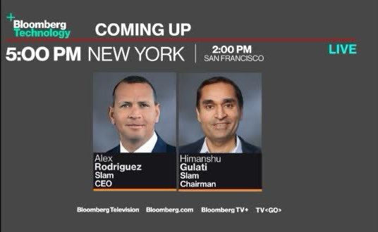 I'll be talking to @AROD & Himanshu Gulati about their new SPAC #SlamCorp on @BloombergTV - 5pET/2pPT.  Ya don't wanna miss this one!