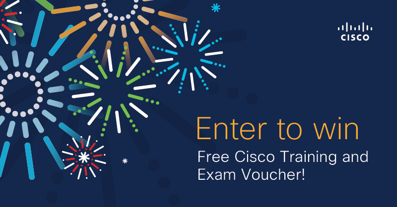 Enter our Cert-versary Giveaway for the chance to win a Professional-level e-learning course and exam voucher of your choice!   Details here: https://t.co/2HqDuHICZi  #CCNA #CCNP #CiscoCert https://t.co/oCyTVaR8qE