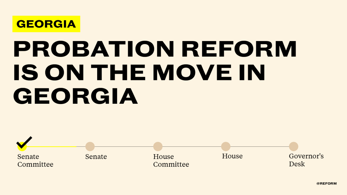 Great news in Georgia: @StricklandForGA's bipartisan probation reform bill cleared an important Senate committee & is headed to the full Senate for a vote soon!  Let's bring common-sense solutions to probation in GA @gajustice @ACUFforJustice @RestoreHER_US @FaithandFreedom