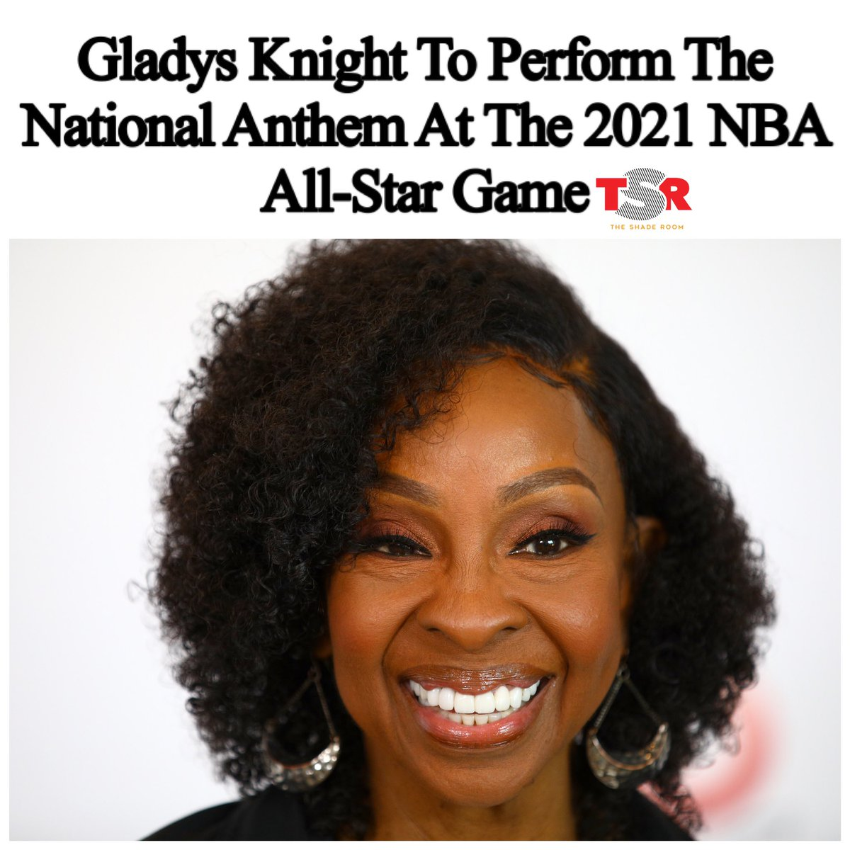 On Wednesday, the @NBA announced that Gladys Knight will perform the national anthem at the 2021 NBA All-Star Game taking place in Atlanta. (📸:@GettyImages)