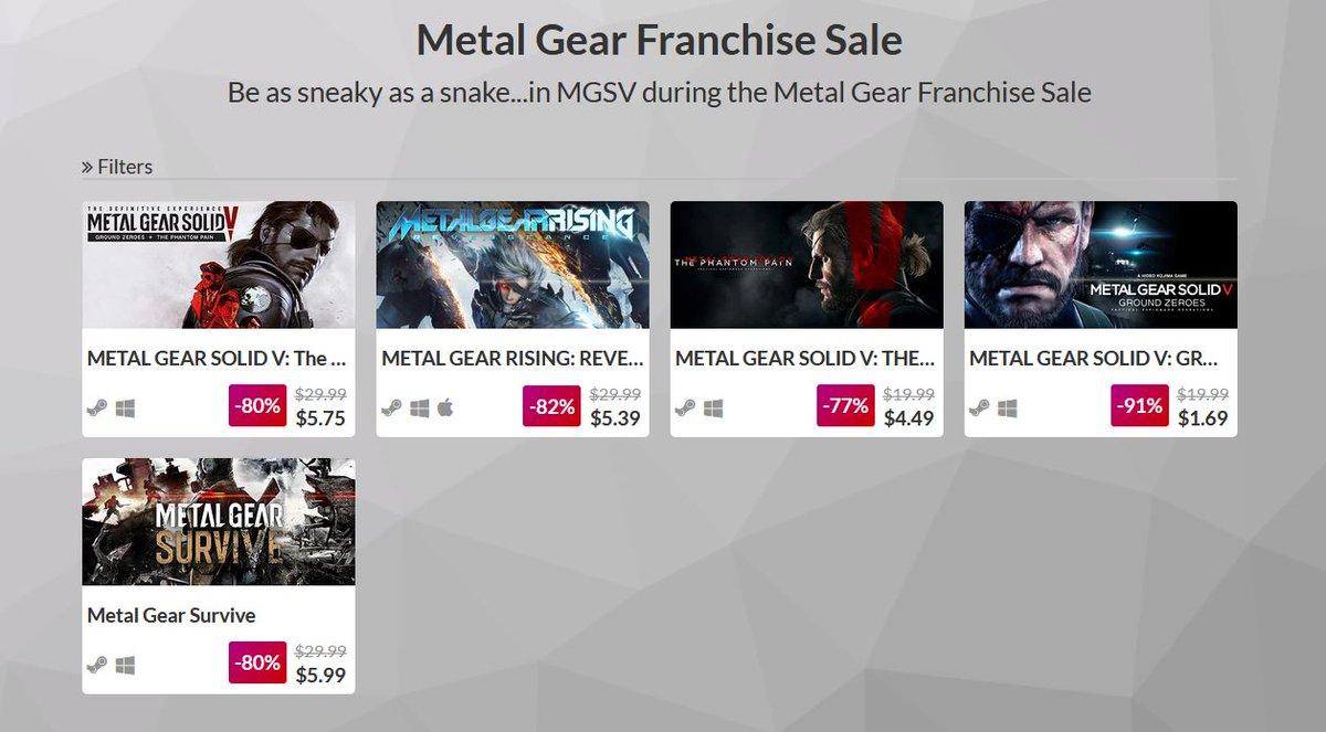 (PCDD) Metal Gear Franchise Sale via IndieGala. 2