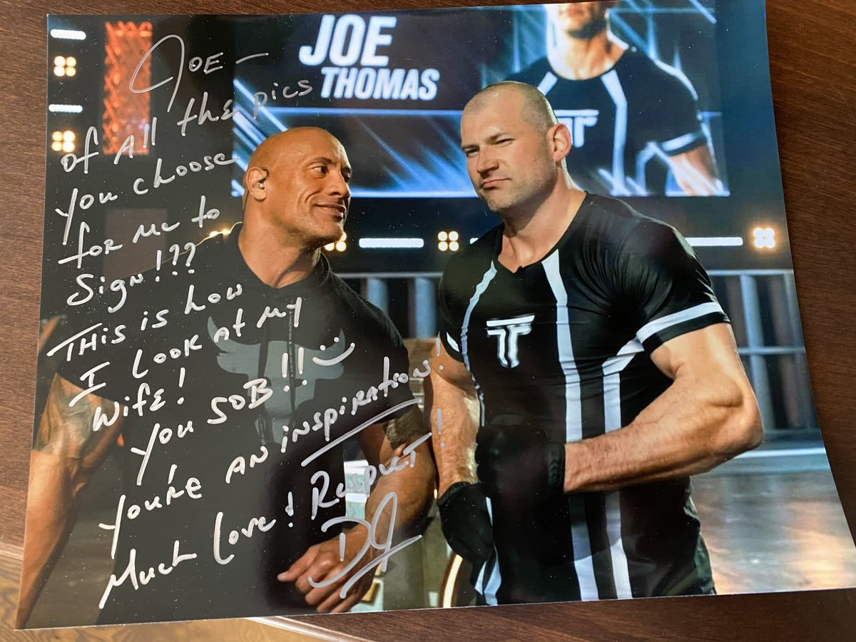 Very special!!  Thank you!! @TheRock