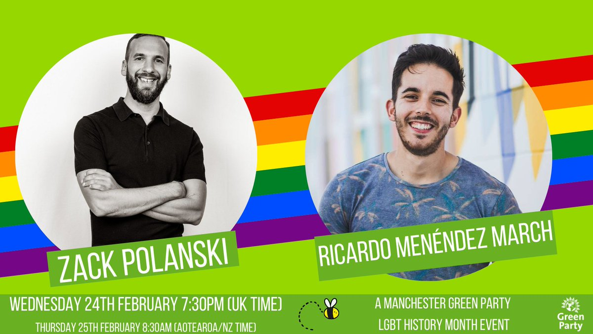 Thanks for having me @McrGreenParty and a huge nod to @RMarchNZ.  I was so inspired to hear from a Green MP in Aotearoa New Zealand & hear the solidarity there is in Rainbow & Global Greens standing up for LGBTQIA+ rights.  So much stronger together!  #TransRightsAreHumanRights