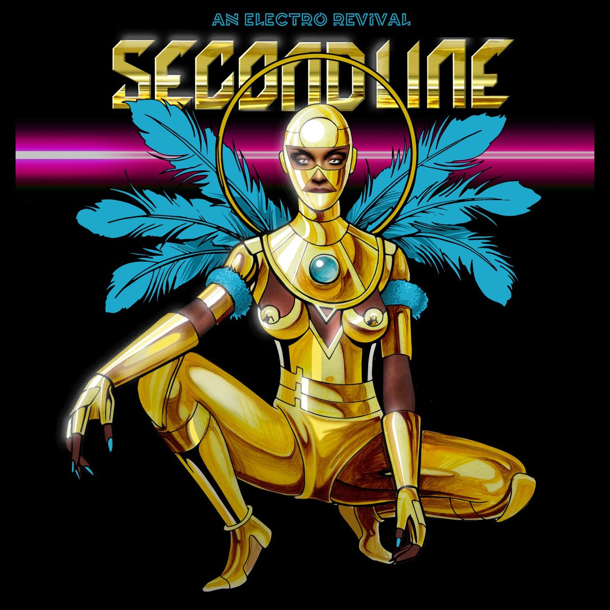 """Much love to the talented @DawnRichard for having me design the cover for her album """"Secondline."""" (dropping April 30th) This def was a fun project for me. 🙏🏾⚜️"""