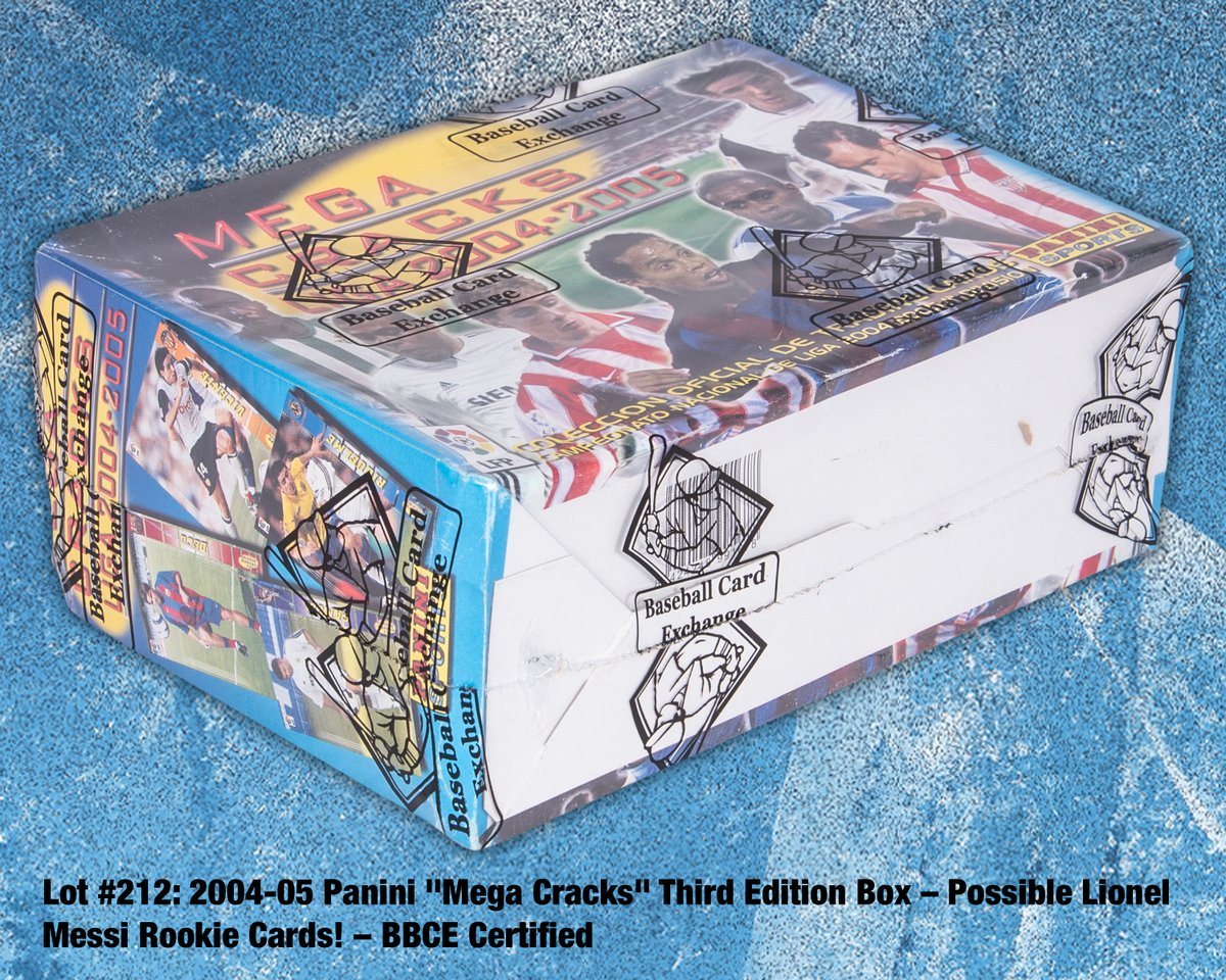 """Winter Auction⛄️ Presented is a fantastic """"find"""" just as the #soccertradingcard market is reaching new, incredible heights. This is an intact #Panini Espana '04/05 """"Mega Cracks"""" box that retains its full complement of 36 unopened packs! LOT # 212  #thehobby"""