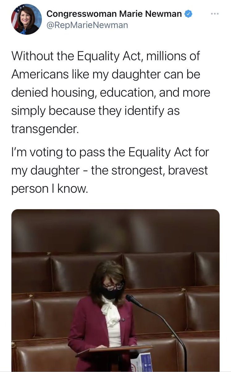 """Congresswoman Marie Newman spoke about how anti-trans discrimination affects transgender Americans like her daughter and Marjorie Taylor Greene replied to Newman calling her daughter """"your biological son."""""""