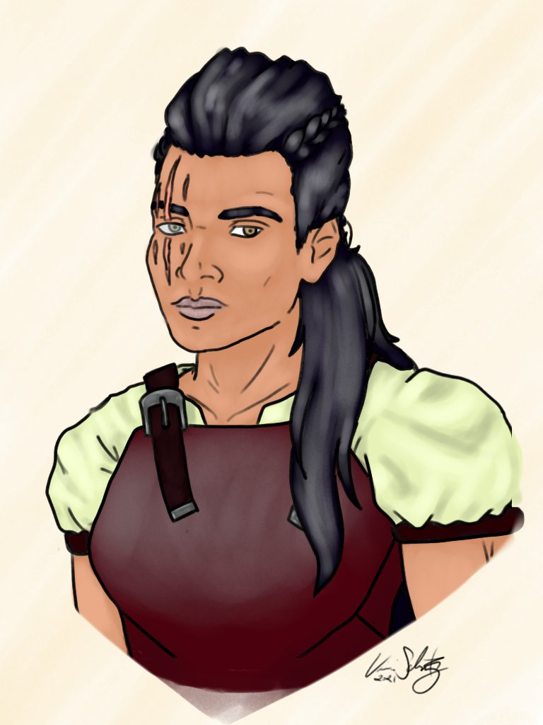 Tried to do a quick sketch of an NPC I made for the campaign I'm running. This is Veira, a weretiger that governs over a hidden community of lycanthropes. I say tried cuz A) it was not quick. And B) it came out ok. But I did it so 🤷🏽♂️ #dndart #dndartists