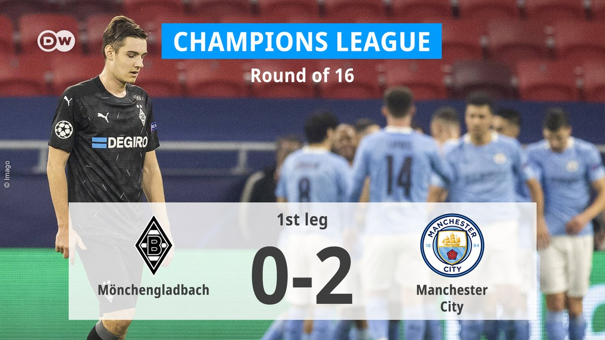 One shot on target for Mönchengladbach against Manchester City.   A tall task ahead. #UFC #BMGMCI