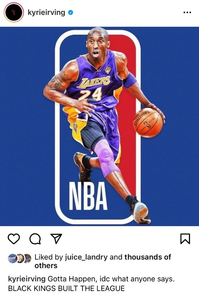 Kyrie wants to see the NBA logo changed 👀